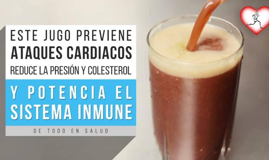 Este jugo previene los ATAQUES CARDIACOS, limpia las ARTERIAS de colesterol, baja la PRESIÓN y Mejor
