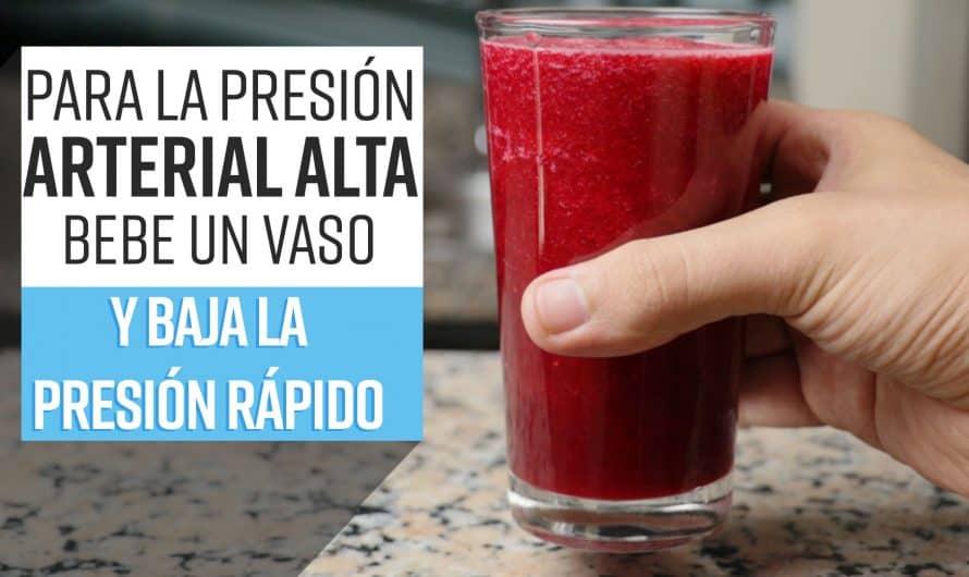 Para la PRESIÓN ARTERIAL ALTA bebe 1 vaso al día y baja la presión rápido