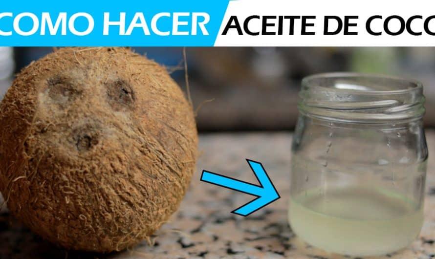 Como hacer ACEITE DE COCO virgen prensado en frio en casa   METODO FACÍL
