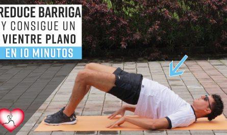 Rutina 10 minutos para un VIENTRE PLANO Reduce barriga con estos ejercicios en casa