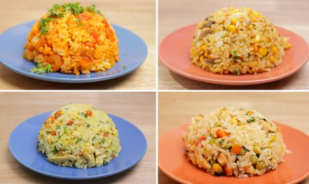 4 Recetas con Arroz fáciles y Saludables | Ideas para el Almuerzo