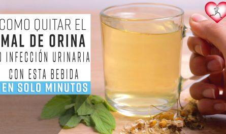 Como QUITAR una Infección Urinaria o MAL DE ORÍNA EN MINUTOS Con esta bebida
