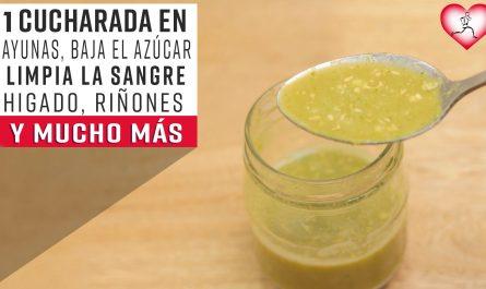1 Cucharada al Día en la mañana Baja El Azúcar, Limpia la Sangre, Hígado, Riñones, Páncreas y Pulmón