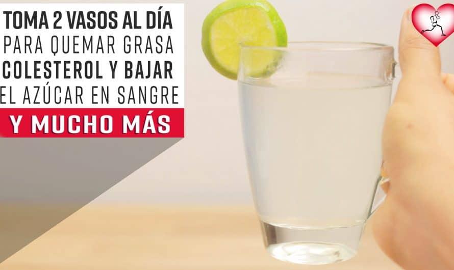 Toma dos vasos a diario para Quemar La Grasa Abdominal, Colesterol y Bajar los Niveles de Azúcar