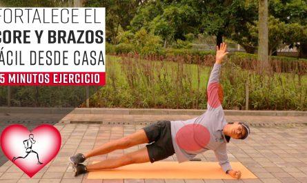 Fortalece el CORE y los BRAZOS con estos ejercicios | Ejercicios en casa en 15 minutos