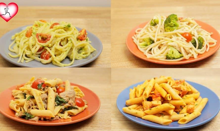 4 RECETAS CON PASTAS SALUDABLES| Ideas fáciles para el almuerzo