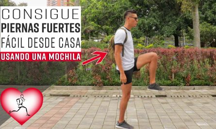 RUTINA de ejercicio para las PIERNAS con una MOCHILA – FORTALECER las piernas en 10 Minutos