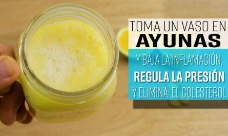 Un vaso en AYUNAS regula la presión, baja la inflamación y elimina el colesterol