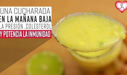 1 cucharada En La Mañana Baja La Presión, Colesterol y Despídete De La Tos Resfriados O Flema