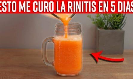 ¿Estornudas con frecuencia? Este batido de 4 ingredientes CURA LA RINITIS producida por alérgenos